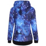 cheap Pullover Galaxy Print Drawstring Hoodie