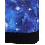 Pullover Galaxy Print Drawstring Hoodie photo