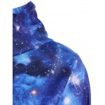 Pullover Galaxy Print Drawstring Hoodie deal