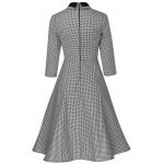 Plus Size Vintage Houndstooth Print Pin Up Dress deal