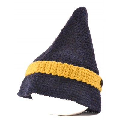 Button Pointed Top Knitted Beanie