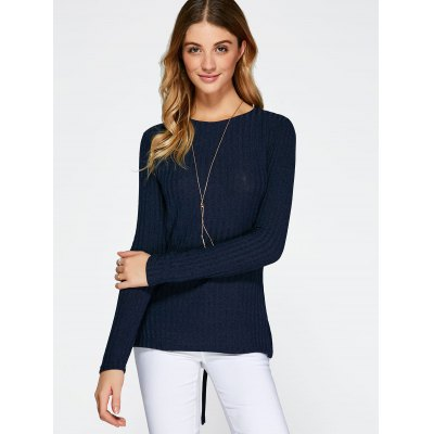 Lace Up Side Slit SweaterSweaters &amp; Cardigans<br>Lace Up Side Slit Sweater<br><br>Type: Pullovers<br>Material: Polyester<br>Sleeve Length: Full<br>Collar: Jewel Neck<br>Style: Casual<br>Pattern Type: Solid<br>Season: Fall,Spring,Winter<br>Weight: 0.263kg<br>Package Contents: 1 x Sweater