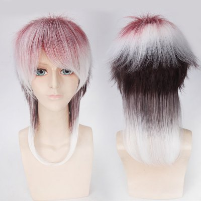 Medium Side Bang Fluffy Straight Cosplay Synthetic Wig