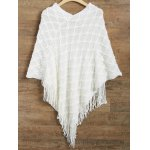 Asymmetrical Fringed Poncho Sweater deal