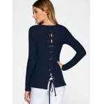 Lace Up Side Slit Sweater for sale