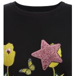 Plus Size Sequin Embellished Embroidered Sweatshirt deal