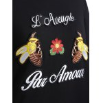 Plus Size Bee Embroidered Sweatshirt for sale