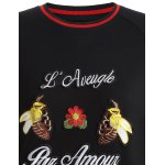 Plus Size Bee Embroidered Sweatshirt deal