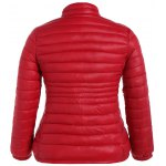 cheap Plus Size Double Pocket Quilted Jacket