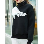 Two Tone Pullover Wing Printed Sweatshirt for sale