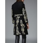 Vintage Floral Embroidered Wool Coat photo