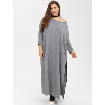 Plus Size Batwing Sleeve Dress
