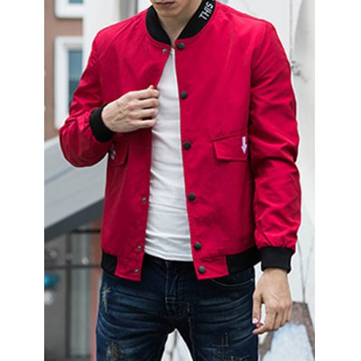 Snap Button Up Bomber Jacket