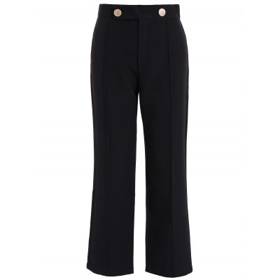 Plus Size High Waist Wide Leg Pants