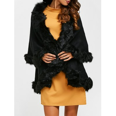 Faux Fur Cape Cardigan