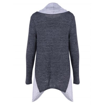 Cowl Neck Asymmetrical KnitwearSweaters &amp; Cardigans<br>Cowl Neck Asymmetrical Knitwear<br><br>Collar: Cowl Neck<br>Material: Polyester, Spandex<br>Package Contents: 1 x Knitwear<br>Pattern Type: Patchwork<br>Season: Spring, Fall<br>Sleeve Length: Full<br>Style: Casual<br>Type: Pullovers<br>Weight: 0.350kg