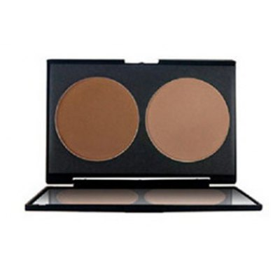 2 Colours Highlighter Bronzing Powder Palette Kit