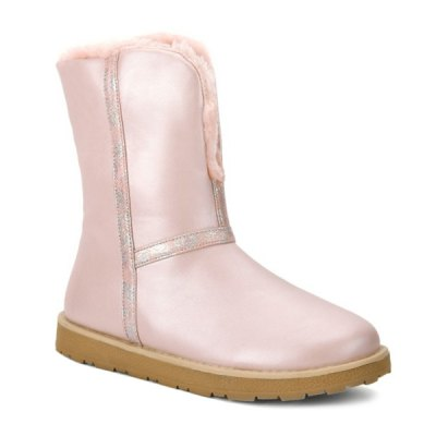 Colour Splicing PU Leather Snow Boots