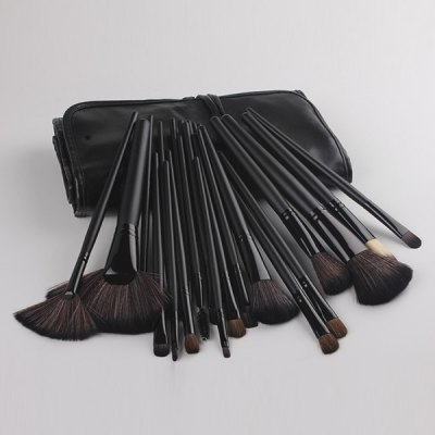 24 Pcs Fiber Face Makeup Brushes Set with Brush Bag