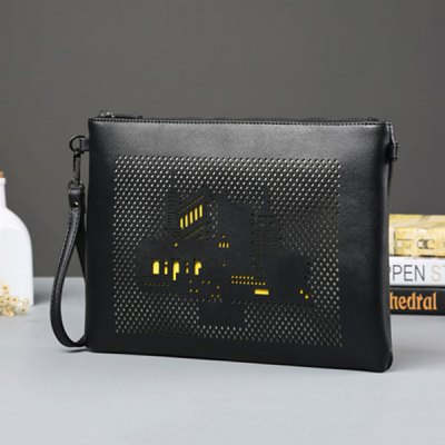 Zipper Building Pattern Hollow Out Clutch BagMens Bags<br>Zipper Building Pattern Hollow Out Clutch Bag<br><br>Style: Fashion<br>Gender: For Men<br>Pattern Type: Others<br>Closure Type: Zipper<br>Interior: Cell Phone Pocket<br>Occasion: Versatile<br>Main Material: PU<br>Weight: 0.550kg<br>Package Contents: 1 x Clutch Bag<br>Length: 33CM<br>Width: 4CM<br>Height: 23CM