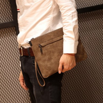Metal PU Leather Double Zipper Clutch BagMens Bags<br>Metal PU Leather Double Zipper Clutch Bag<br><br>Style: Fashion<br>Gender: For Men<br>Pattern Type: Solid<br>Closure Type: Zipper<br>Interior: Cell Phone Pocket<br>Occasion: Versatile<br>Main Material: PU<br>Weight: 0.520kg<br>Package Contents: 1 x Clutch Bag<br>Length: 32CM<br>Width: 2CM<br>Height: 23CM