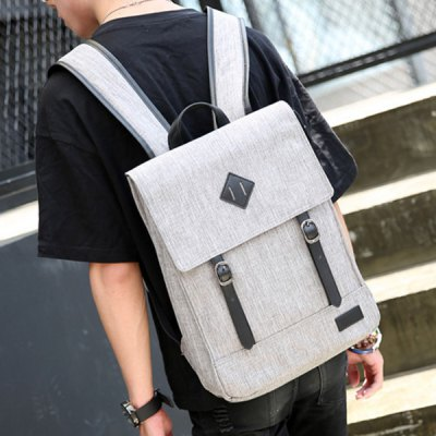 Splicing Colour Block Double Buckle BackpackMens Bags<br>Splicing Colour Block Double Buckle Backpack<br><br>Backpack Usage: Daily Backpack<br>Backpacks Type: Softback<br>Closure Type: Zipper<br>Pattern Type: Patchwork<br>Main Material: Canvas<br>Gender: For Men<br>Weight: 1.200kg<br>Package Contents: 1 x Backpack<br>Length: 28CM<br>Width: 12CM<br>Height: 38CM