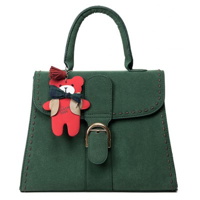 Buckle PU Leather Tote