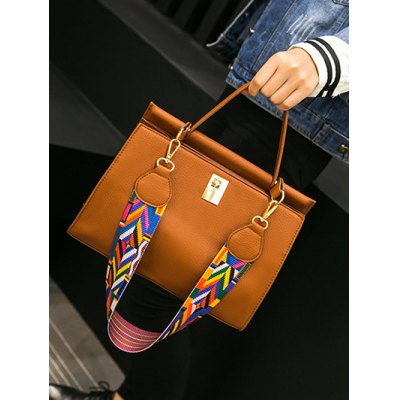 Metal PU Leather Handbag With Colored StrapWomens Bags<br>Metal PU Leather Handbag With Colored Strap<br><br>Handbag Type: Totes<br>Style: Fashion<br>Gender: For Women<br>Pattern Type: Solid<br>Handbag Size: Small(20-30cm)<br>Closure Type: Zipper &amp; Hasp<br>Interior: Interior Zipper Pocket<br>Occasion: Versatile<br>Main Material: PU<br>Weight: 0.631kg<br>Size(CM)(L*W*H): 30*10*23<br>Strap Length: Long Strap:120CM (Adjustable),Colored Strap:60CM<br>Package Contents: 1 x Handbag