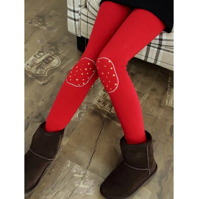 Kids Patch Spliced Thick Skinny Leggings
