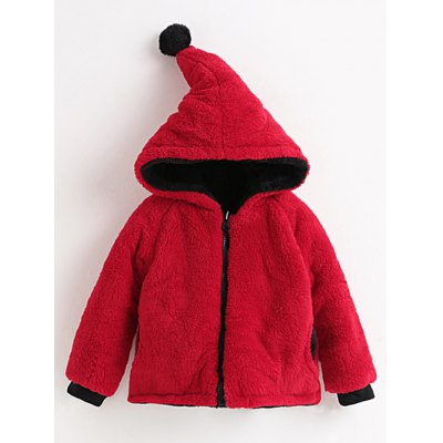 Hooded Convertible Fuzzy Jacket