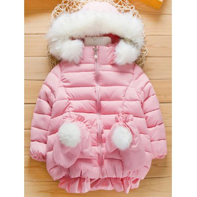 Faux Fur Trim Hooded Puffer CoatGirls Clothing<br>Faux Fur Trim Hooded Puffer Coat<br><br>Clothes Type: Padded<br>Material: Cotton,Polyester<br>Type: Wide-waisted<br>Clothing Length: Regular<br>Sleeve Length: Full<br>Collar: Hooded<br>Closure Type: Zipper<br>Pattern Type: Solid<br>Embellishment: Beading<br>Style: Casual<br>Weight: 0.604kg<br>Package Contents: 1 x Coat