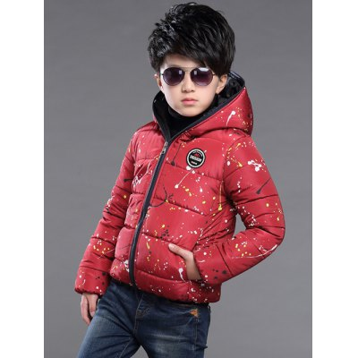 Boys Hooded Splatter Paint Puffer JacketBoys Clothing<br>Boys Hooded Splatter Paint Puffer Jacket<br><br>Clothes Type: Padded<br>Material: Polyester<br>Collar: Hooded<br>Clothing Length: Regular<br>Style: Fashion<br>Sleeve Length: Long Sleeves<br>Season: Winter<br>Weight: 0.520kg<br>Package Contents: 1 x Jacket