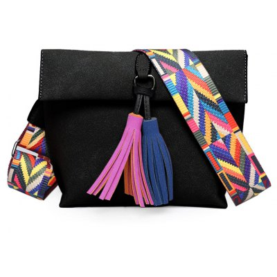 Tassels Magnetic Closure Crossbody Bag