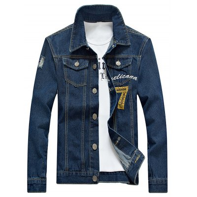 Embroidered Design Jean Jacket