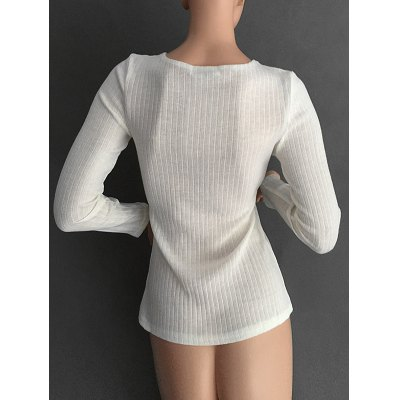 Lace Up Ribbed Jumper