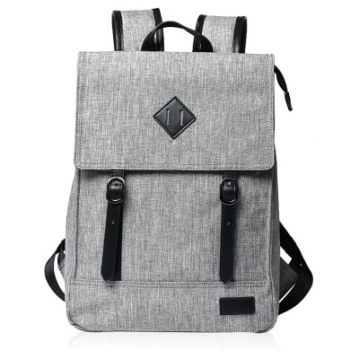 Splicing Colour Block Double Buckle Backpack