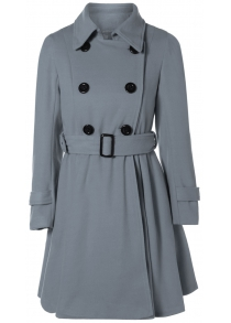 Belted Double Breasted Woolen Coat