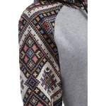 Front Pocket Jacquard Tribal Hoodie for sale