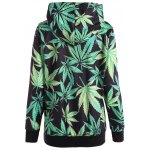 Maple Leaf Print Pullover Hoodie for sale
