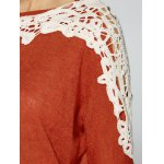 best Openwork Lace Panel Knitwear