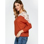 Openwork Lace Panel Knitwear deal