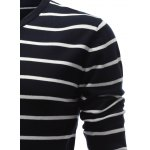 V Neck Contrast Striped Sweater for sale