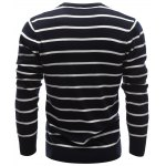 V Neck Contrast Striped Sweater deal