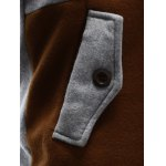 best Pocket Button Up Contrast Insert Elbow Patch Hoodie