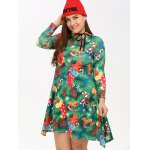 Plus Size Christmas Tree Print Dress deal