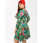 Plus Size Christmas Tree Print Dress for sale
