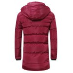 cheap Hooded Lengthen Thicken Quilted Coat