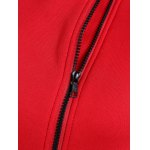 Hooded Inclined Zip Jacket deal