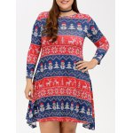 Christmas Snowman Print Swing Dress