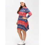 Christmas Snowman Print Swing Dress deal